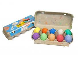 """Набор мелков \""""Лоток  яиц: \""""Бубіда\"""" (10 шт) ББД-01"""