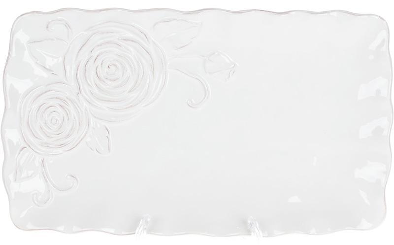 Блюдо сервировочное Аэлита 31.7х18.5х2.8см прямоугольное, керамика