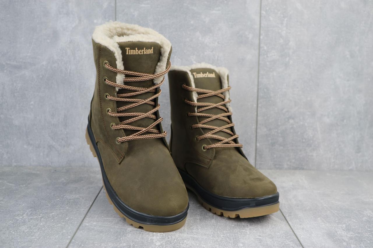 Подростковые ботинки кожаные зимние оливковые-матовые CrosSAV 150