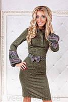 Платье туника женское ангоровое с рукавами фонариком