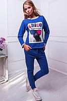 Спортивный костюм с принтом цвет синий КЛЭР, фото 1