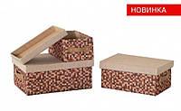 Короб для хранения с крышкой Рыжие клеточки FBC03-М