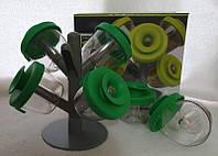 Набор баночек для специй Pop Up Spice Rack из 6 сосудов, спецовница 6 шт., набор для специй