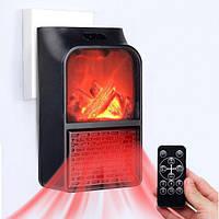 Портативный мини обогреватель Flame Heater New 900W с имитацией камина, LCD-дисплеем и пультом / Портативные мини обогреватели