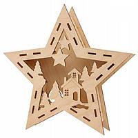 Заготовка  для декорирования Rosa Talent (фанера) 3D композиция Звезда 17,7*20 см 4801738