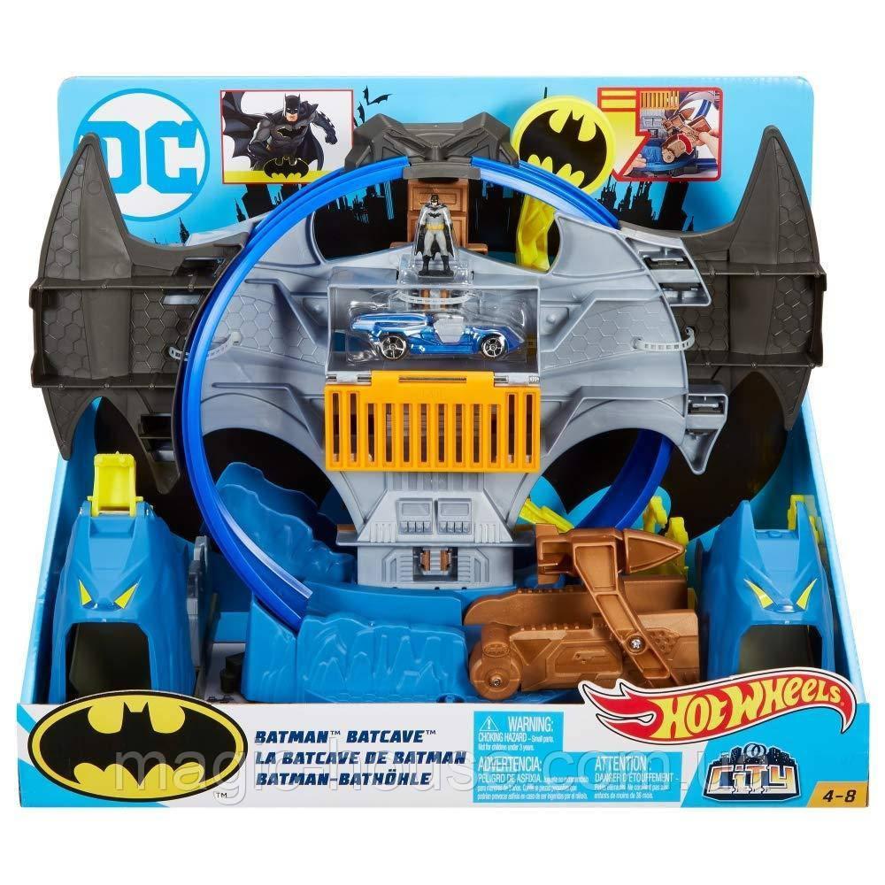 Трек Хот Вилс Убежище Бэтмена Hot Wheels City Batman Batcave
