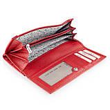 Большой женский кошелек Karya 1133-46 из натуральной кожи красный, фото 3
