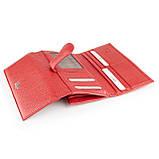 Большой женский кошелек Karya 1133-46 из натуральной кожи красный, фото 4