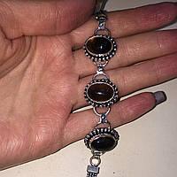 Раух-топаз браслет раух-топаз дымчатый кварц в серебре. Браслет с раух-топазом Индия!