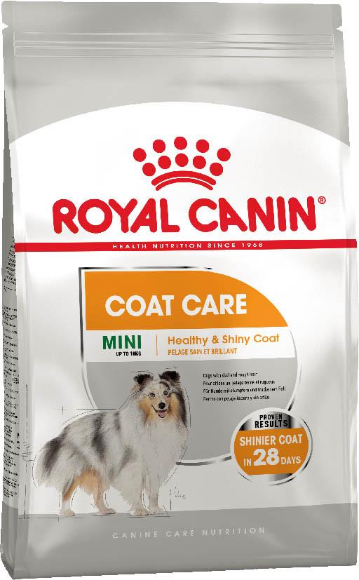 Сухой корм для собак мини пород с тусклой и сухой шерстью Royal Canin Mini Coat Care 1 кг