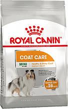 Сухий корм для собак міні порід з тьмяною і сухий шерстю Royal Canin Mini Coat Care 1 кг