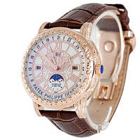 Годинники наручні Patek Philippe Grand Complications 6002 Sky Moon Brown-Gold-White
