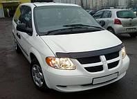 Дефлектор капота  Dodge Caravan V c 2007–2010, Мухобойка Dodge Caravan