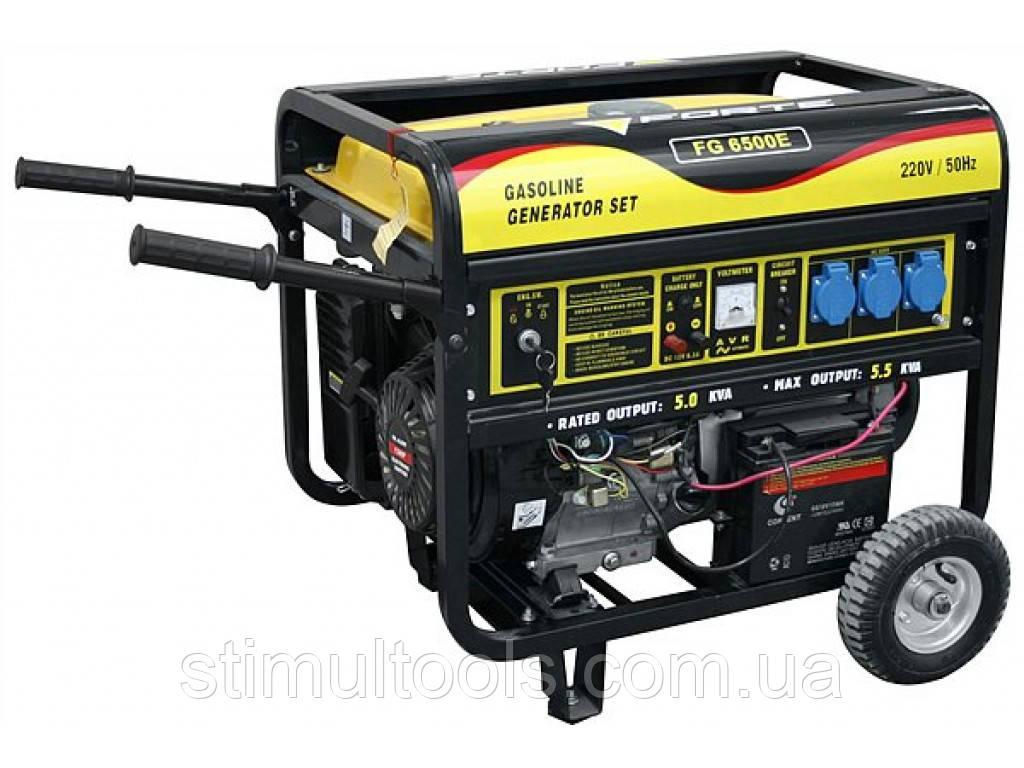 Бензиновый генератор с автоматикой Forte FG6500EA