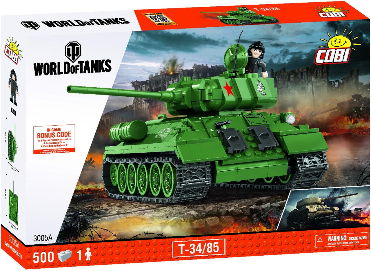 Конструктор COBI World Of Tanks Т-34/85 500 деталей (COBI-3005A) (5902251030056)