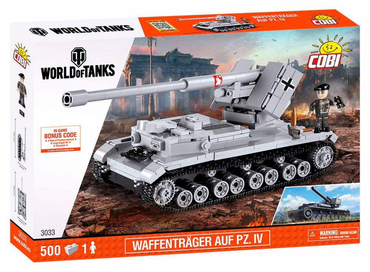 Конструктор Cobi World Of Tanks Тигр I 545 деталей (COBI-3000B) (5902251030001)