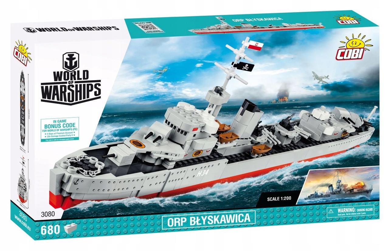 Конструктор  Cobi World Of Warships Эсминец Блыскавица, 680 деталей (COBI-3080) ( 5902251030803)