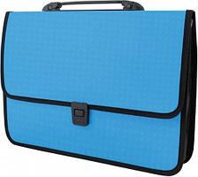 Портфель Economix на застежке «Вышиванка» голубой