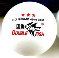 Спортинвентарь, мячи, настольный теннис Double Fish 3 *** - 3шт./уп
