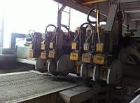 Распиловочный станок для гранита и мрамора 6 суппортов