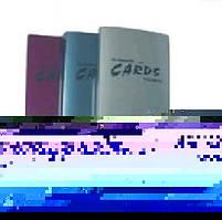 Визитница Economix на 256 визиток с впаянными файлами, пластиковая