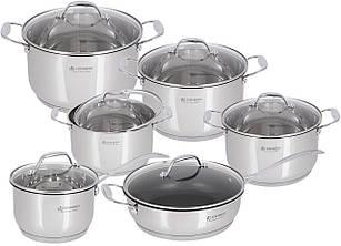Набор посуды Edenberg из 12 предметов Серебристый (EB-2120)