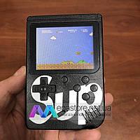 Портативная игровая консоль ретро приставка с джойстиком Sup Game box 400 игр 2play dendy денди черная
