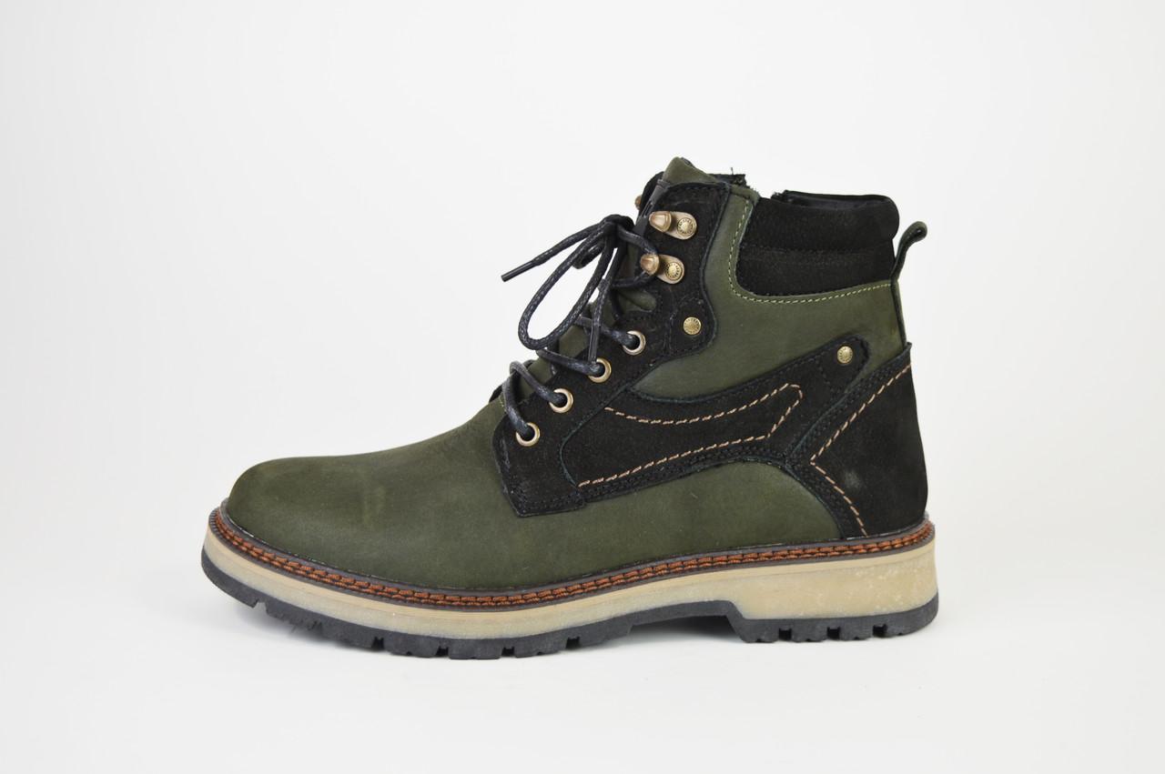 Ботинки зимние нубук Konors 109207 хаки