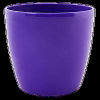 Горшок цветочный Матильда 12*11 темно-фиолетовый, Украина