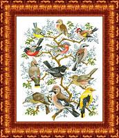 Схема для вышивки крестом панно - птицы