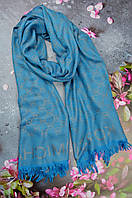 Шарф палантин в стиле Michael Kors (Майкл Корс) серо-голубой