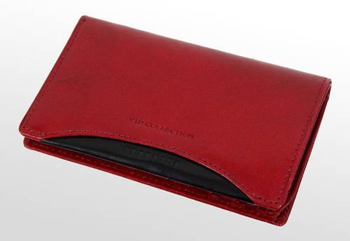Кожаная визитница-портмоне VIP COLLECTION (Вип Колекшн). 133R PR красный