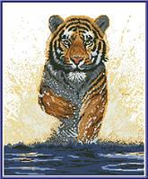"""Схема для вышивки крестом """"Тигр"""""""