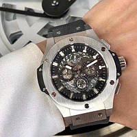 Часы наручные Hublot Big Bang Sceleton Silver-Black