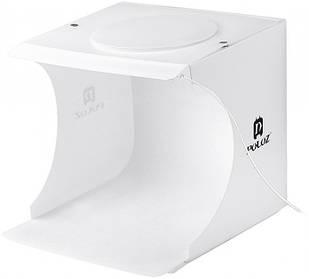 Лайткуб / фотобокс для предметной съемки Puluz 20 x 20 x 20 см + 2 LED панели Белый (PU5022-2)