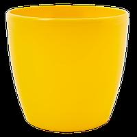 Горшок цветочный Матильда 12*11 темно-желтый, Украина