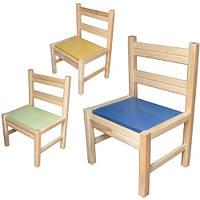 Деревянный стульчик не разборный для детского сада младшей и средней группы