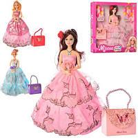 Кукла M 4097 UA.30см, шарнирная, сумочка, 3вида, в кор-ке