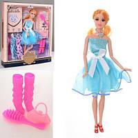 Кукла с нарядом DX517-1.29см, шарнирная, платья,сумочка, расческа, обувь,в кор-ке