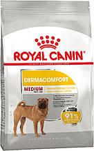 Сухой корм для собак средних пород, склонных к кожным раздражениям и зуду Royal Canin Medium Dermacomfort 3 кг