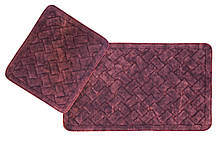 Набор ковриков в ванную комнату Arya 60х100 и 60х50 - 2пр. Hasir (TR1006872) Бордовый