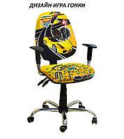 Кресло детское Бридж хром дизайн Игра Гонки (АМФ-ТМ)