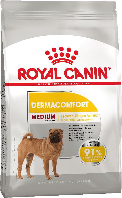 Сухой корм для собак средних пород, склонных к кожным раздражениям и зуду Royal Canin Medium Dermacomfort 10кг