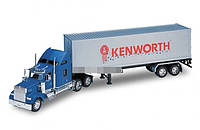 Трейлер металл 1:32 KENWORTH W900 WELLY