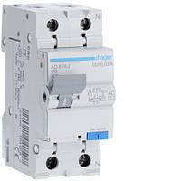 Дифференциальный автоматический выключатель Hager (ДАВ) 1P+N 4.5kA C-6A 30mA AC (AD856J)