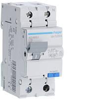 Дифференциальный автоматический выключатель Hager (ДАВ) 1P+N 4.5kA C-10A 30mA AC (AD860J)