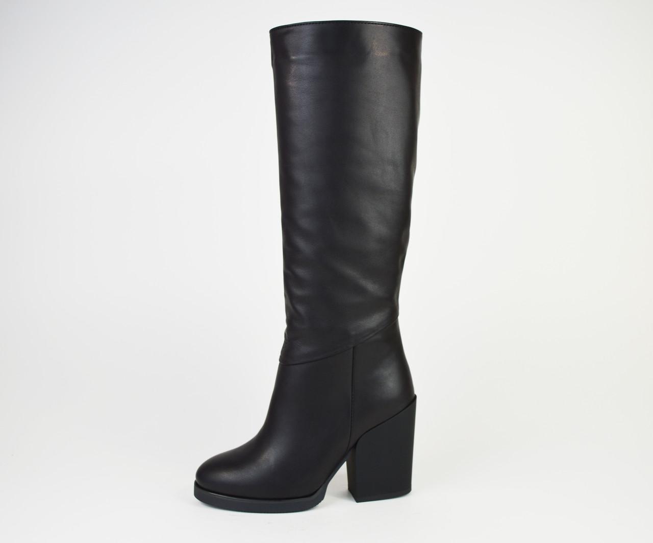 Сапоги кожаные на каблуке Kluchini 13106