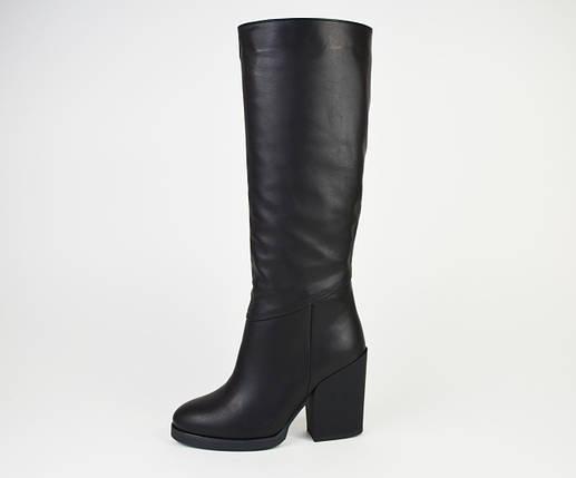 Сапоги кожаные на каблуке Kluchini 13106, фото 2