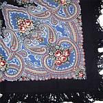 """Платок шерстяной с шерстяной бахромой """"Яшма"""", 89x89 см, фото 4"""