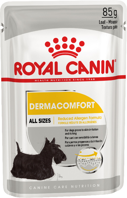 Влажный корм для собак, склонных к кожным раздражениям и зуду Royal Canin Dermacomfort паштет 85 г
